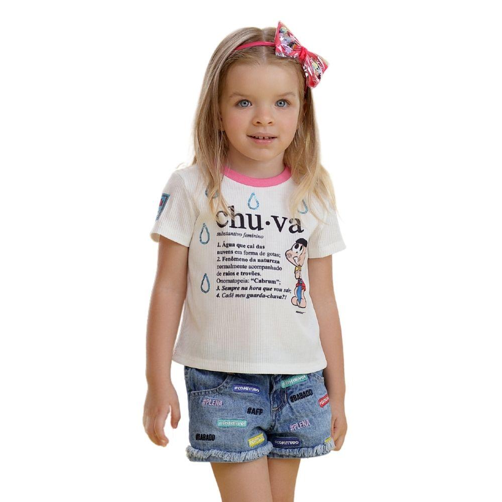 Blusa Verão Cascão Turma da Mônica Mon Sucre Infantil