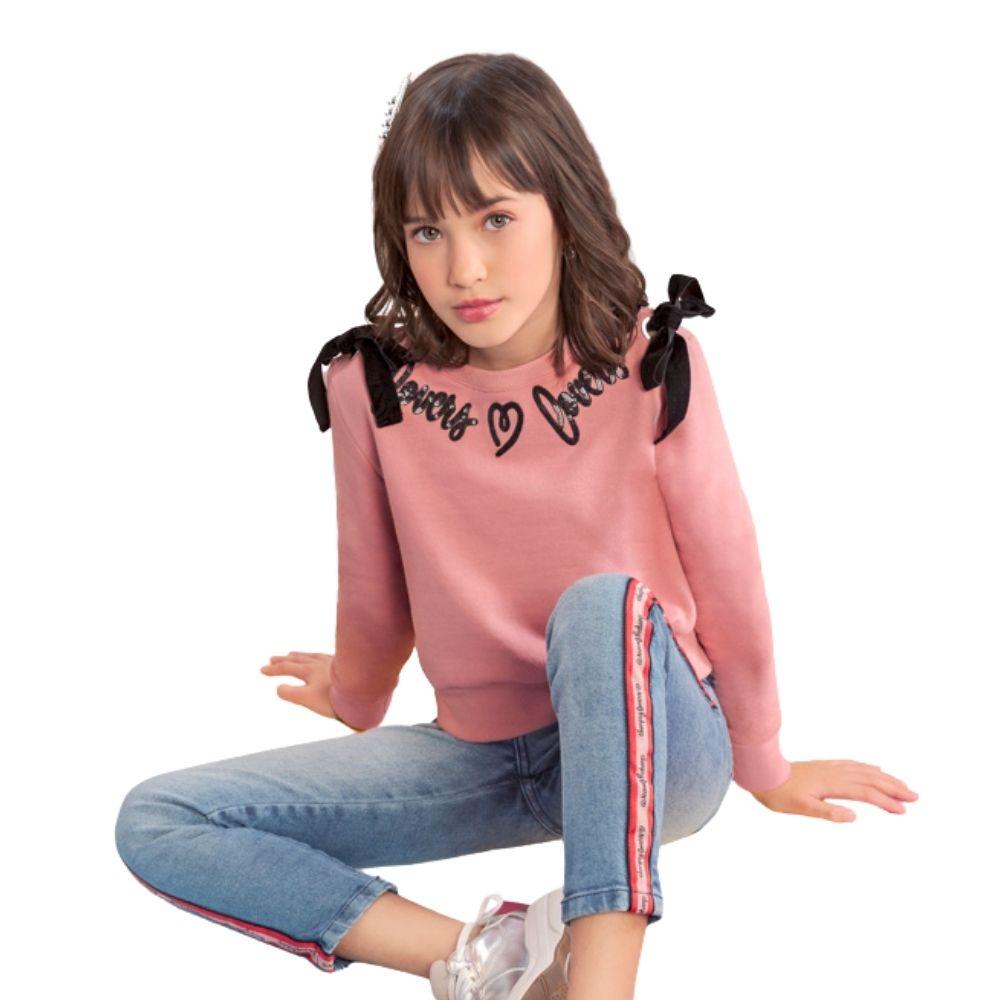 Blusão Moletom Laços Charpey Infantil