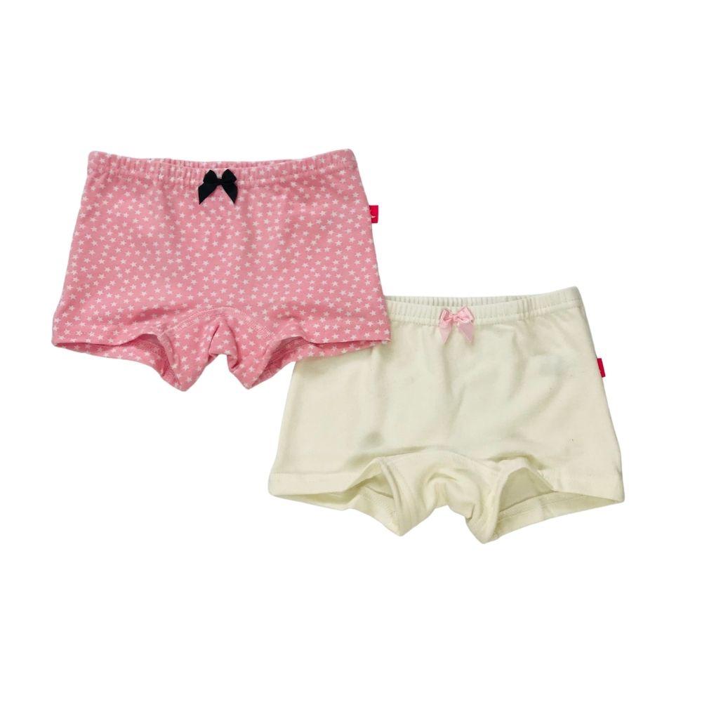 Calcinha Kit Boxer Marfim e Estrela Infantil