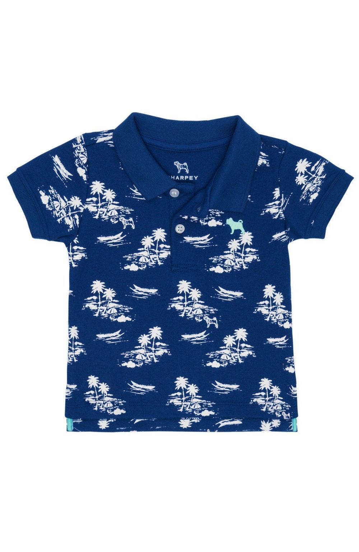 Camisa Polo Azul Ilha Charpey
