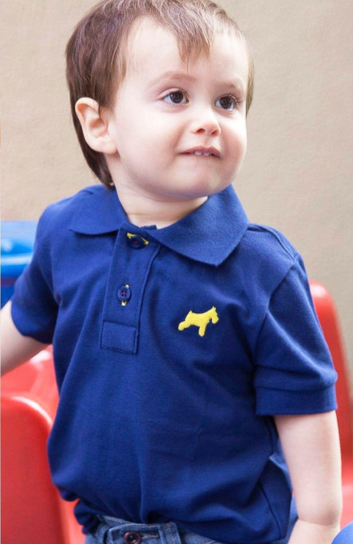 Camisa Polo Azul Oliver