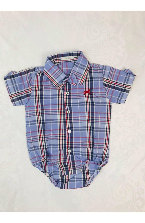 Camisa Social Body Azul Bilu Teteia