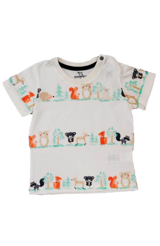 Camiseta Malha Animais Charpey Infantil