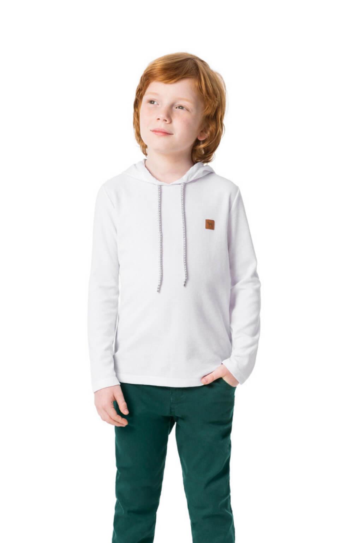 Camiseta Manga Longa Branca Charpey Infantil