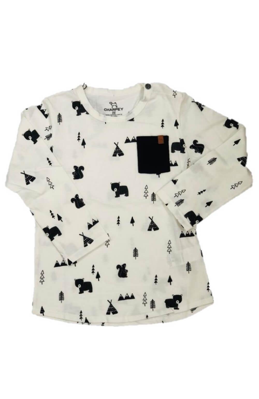 Camiseta Ursinho na Montanha Charpey Infantil