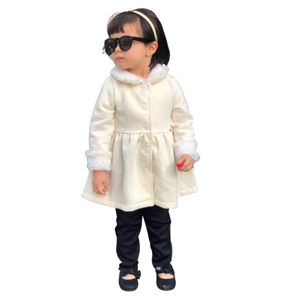 Casaco Off White Moletom Felpado Mon Sucre Infantil