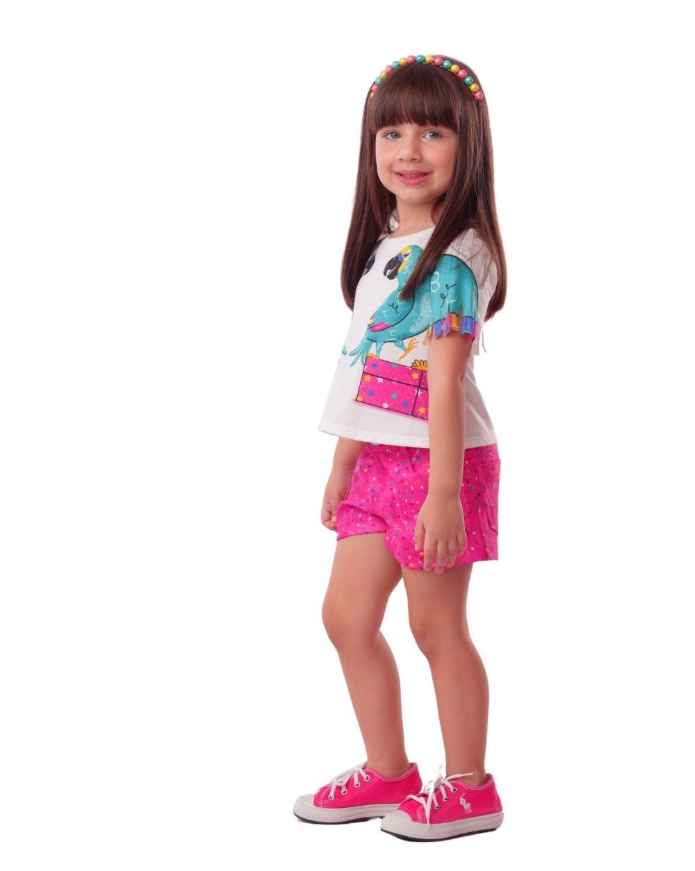 Conjunto Arara Jungle Party Mon Sucre Infantil