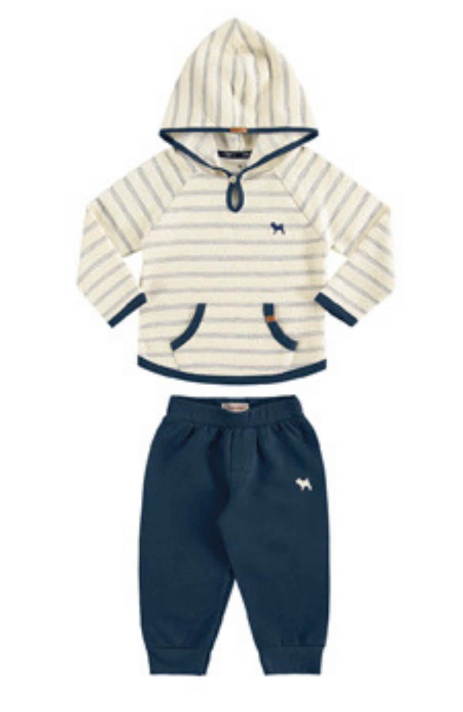 Conjunto Blusão Listrado com Calça Moletinho Charpey Infantil
