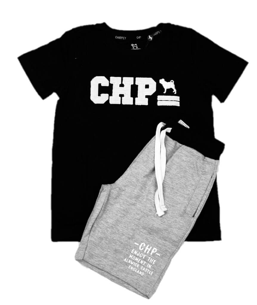 Conjunto Camiseta e Bermuda Moletinho Charpey Infantil