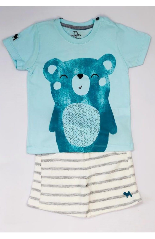Conjunto Camiseta e Bermuda Moletom Charpey Infantil