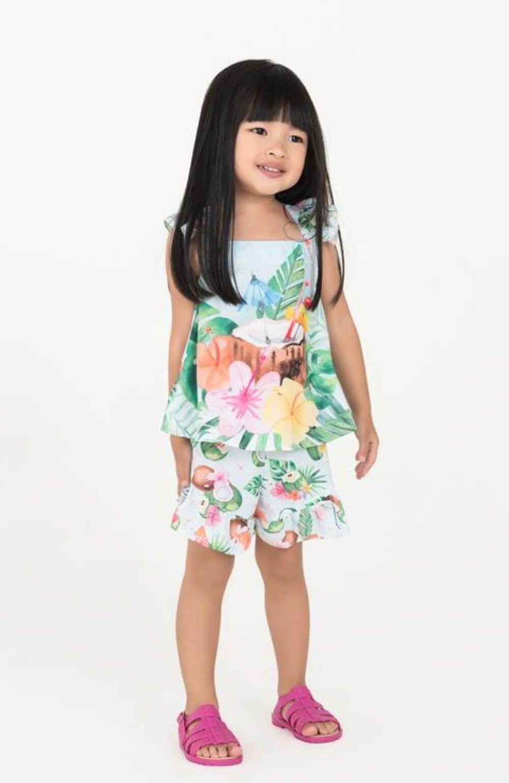 Conjunto Coco Floral Mon Sucre Infantil