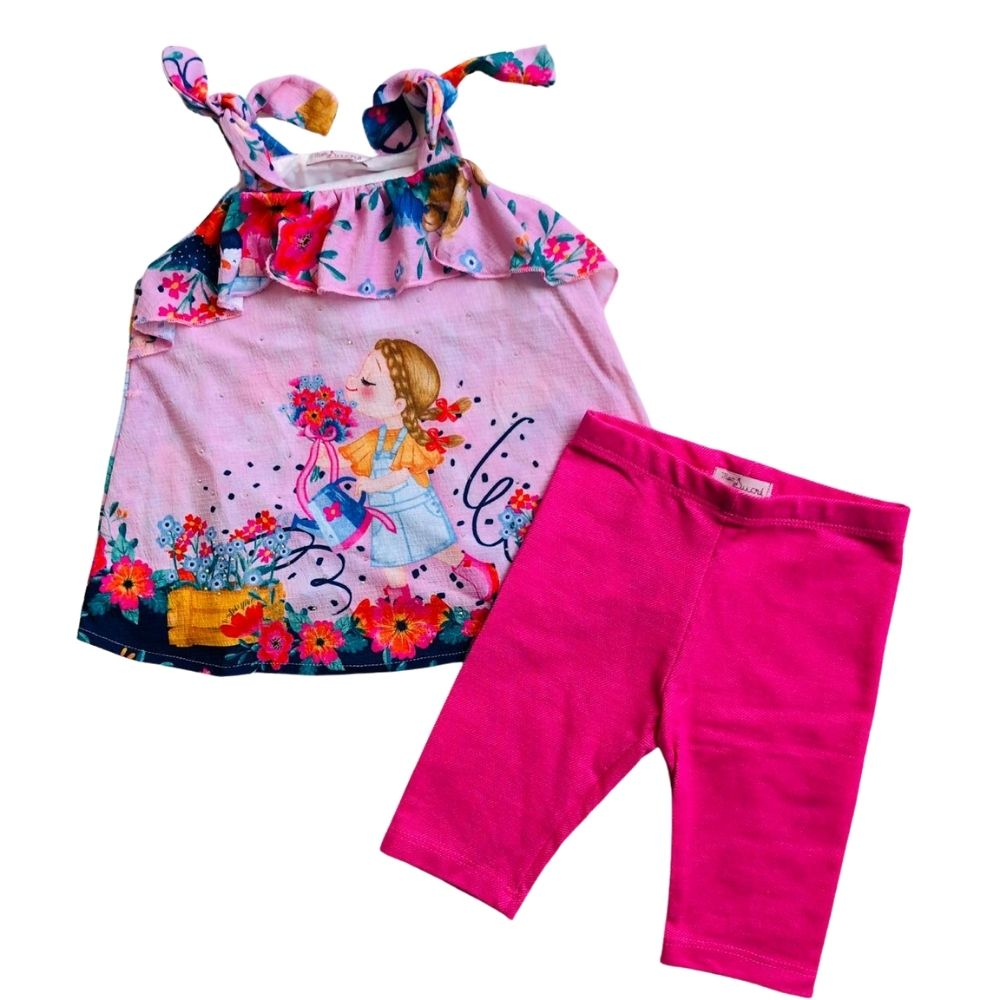 Conjunto Legging Camponesa Mon Sucre Infantil
