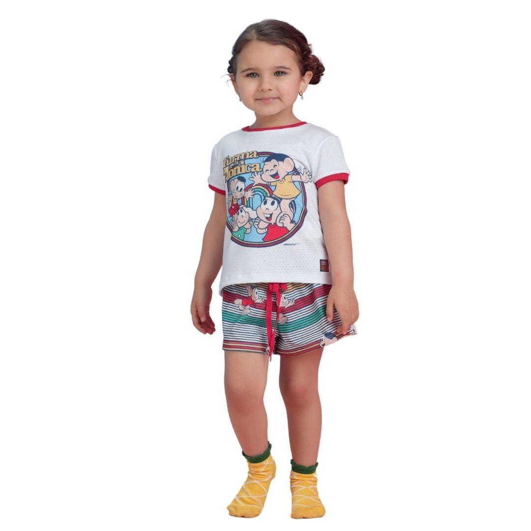 Conjunto Pijama Mônica e Amigos Turma da Mõnica Infantil