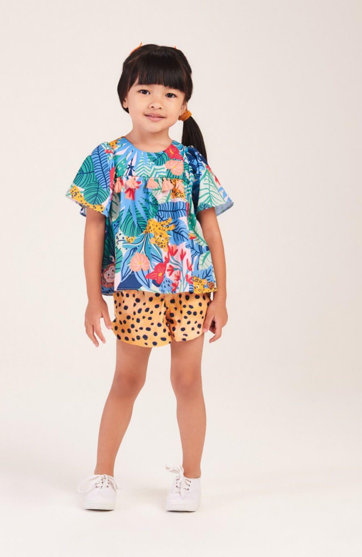 Conjunto Tropical Oncinha Mon Sucre Infantil