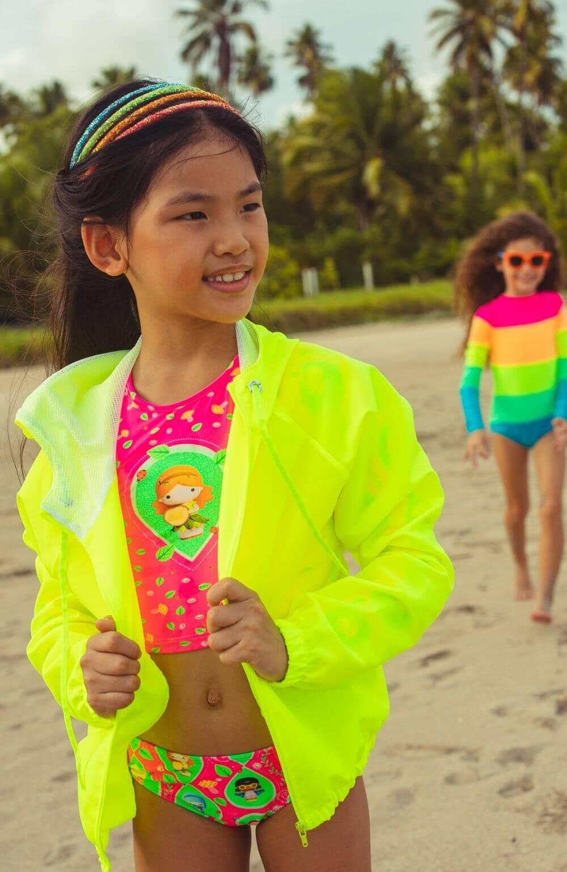 Corta Vento Verde Limão Siri Kids
