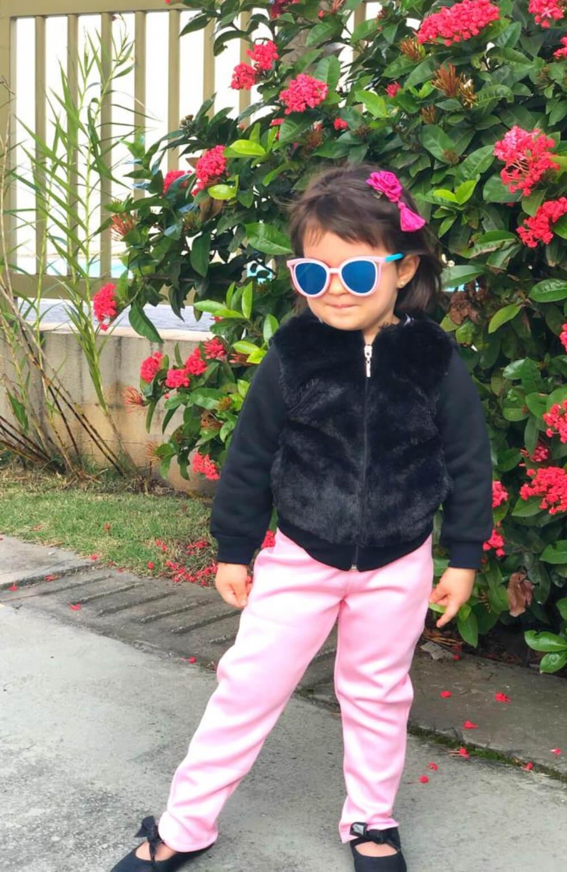 Jaqueta Preta de Pelo Sintético Mon Sucre Infantil