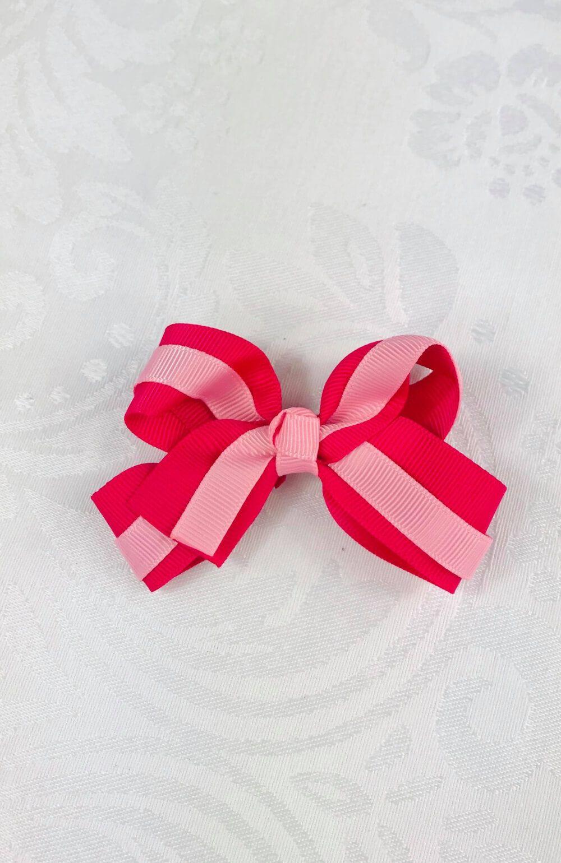 Laço Duplo Rosa e Pink Infantil