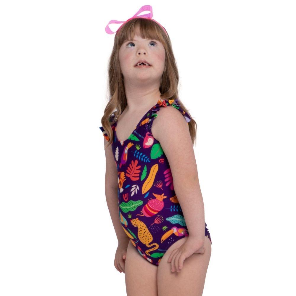 Maiô Amanda Pantanal Siri Kids Moda Praia Infantil