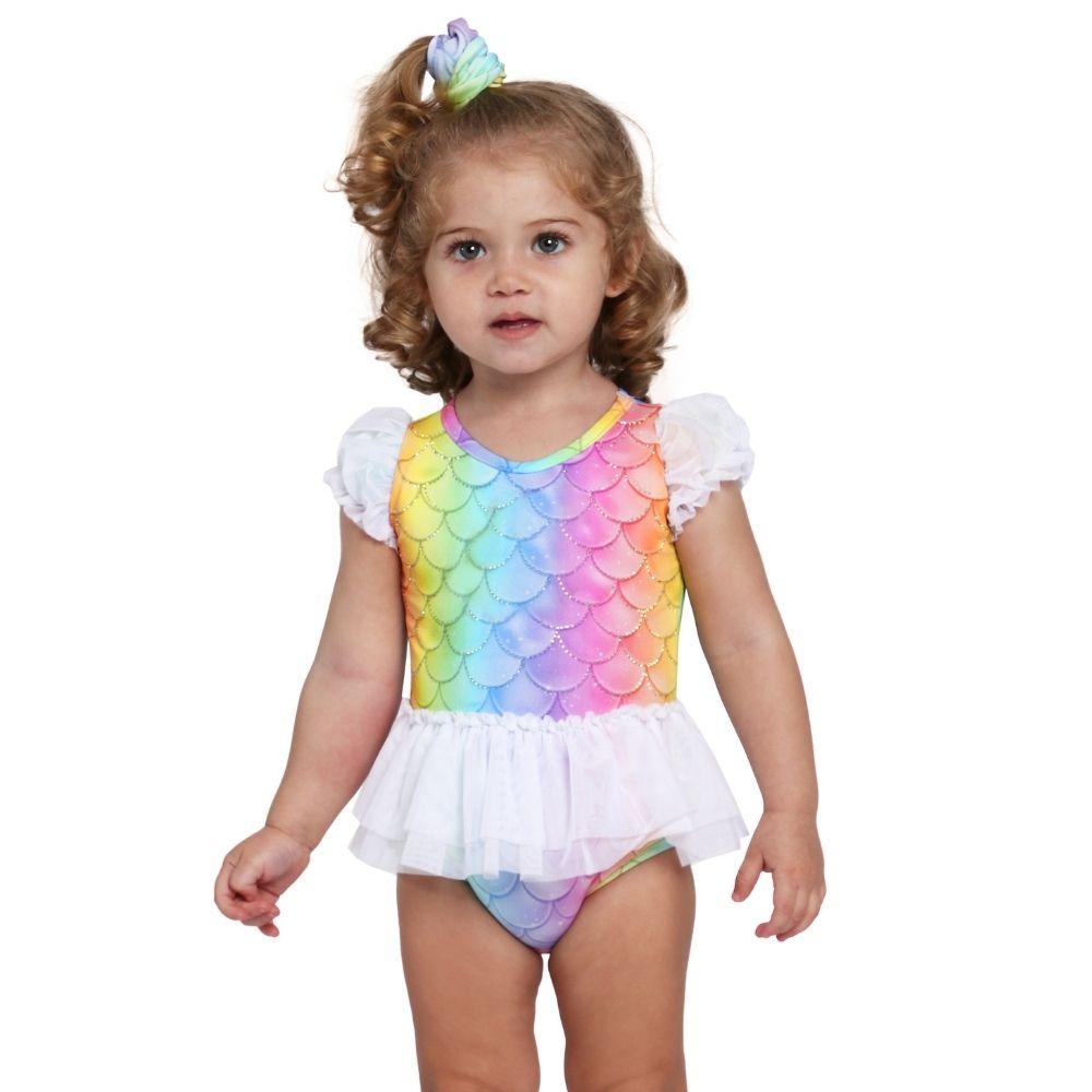 Maio Baby Sereia Shine Siri Kids Moda Praia Infantil