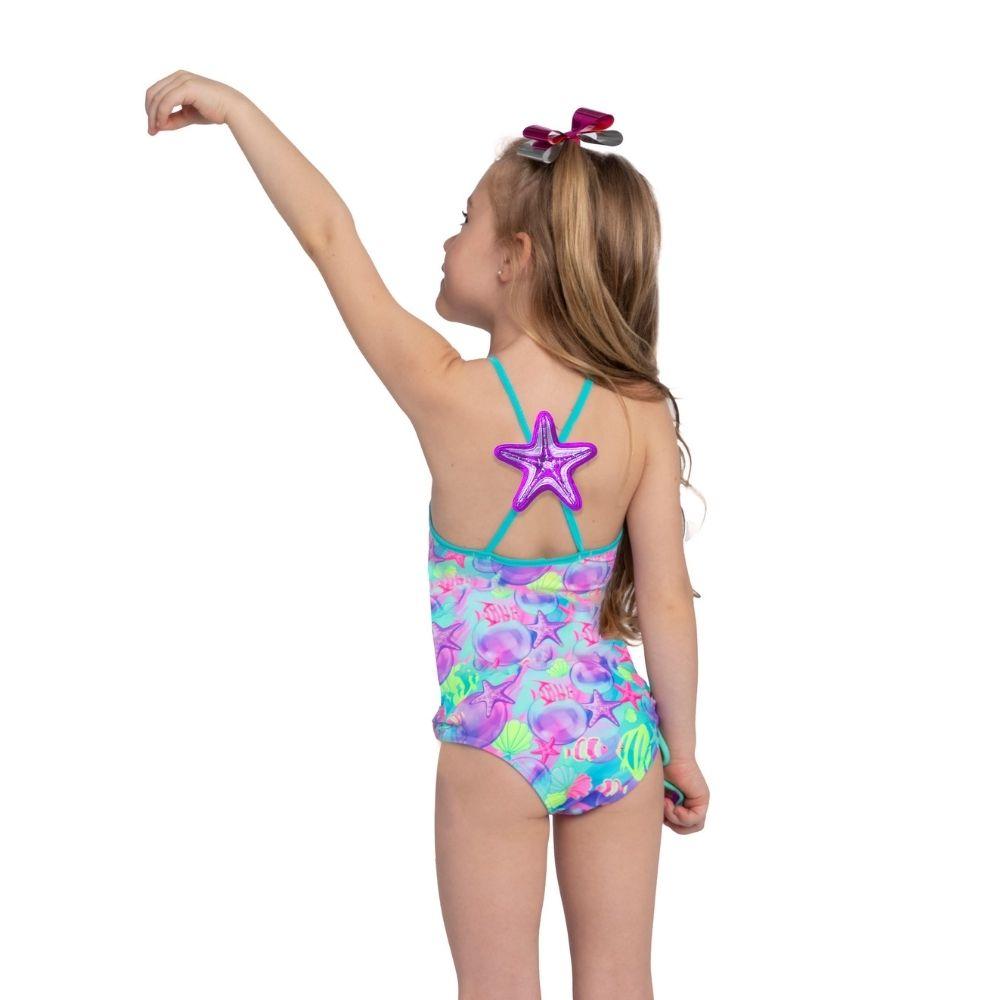 Maiô Bela Fundo do Mar Siri Kids Moda Praia Infantil