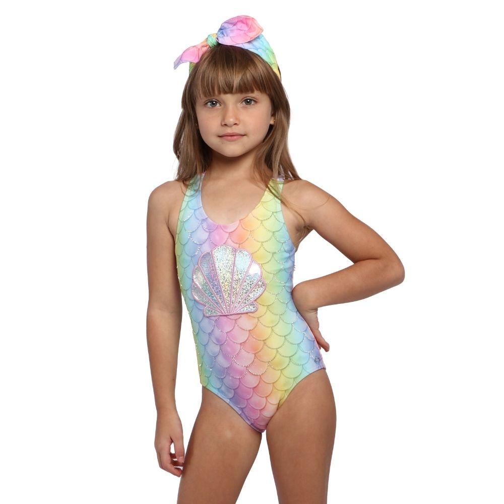 Maio Sereia Shine Valentina Siri Kids Moda Praia