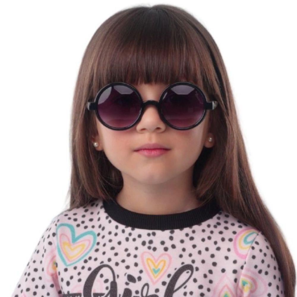 Óculos Redondo Preto Mon Sucre Infantil