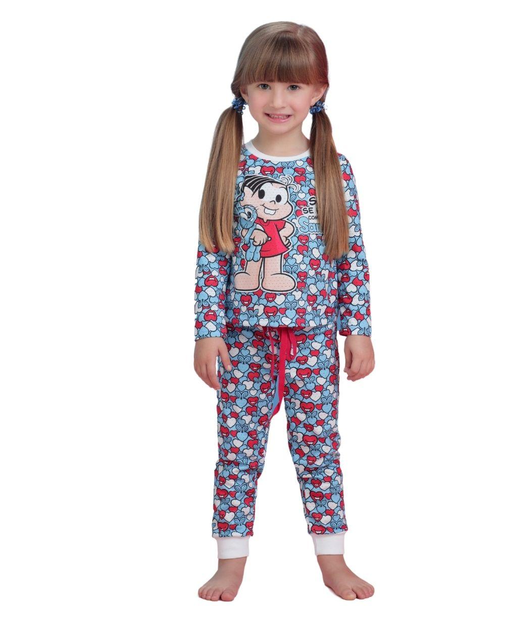 Pijama Mônica e Sansão Turma da Mônica Infantil