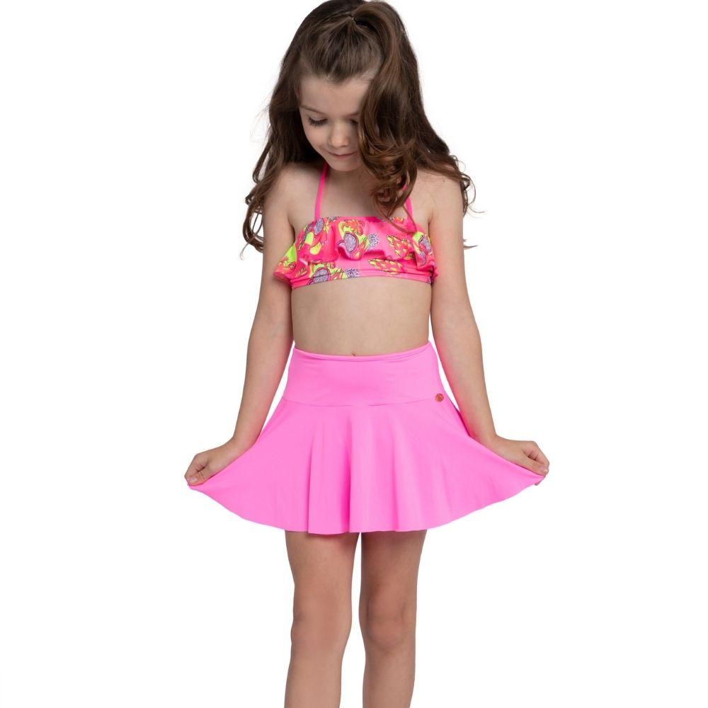 Saia Pink  Luisa Saida de Praia Siri Kids Infantil