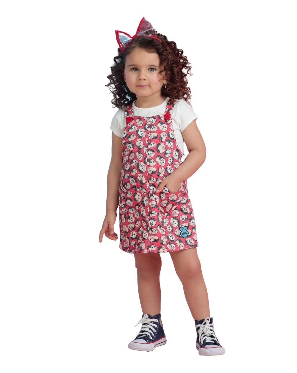 Vestido Salopete Mônica Mon Sucre Infantil