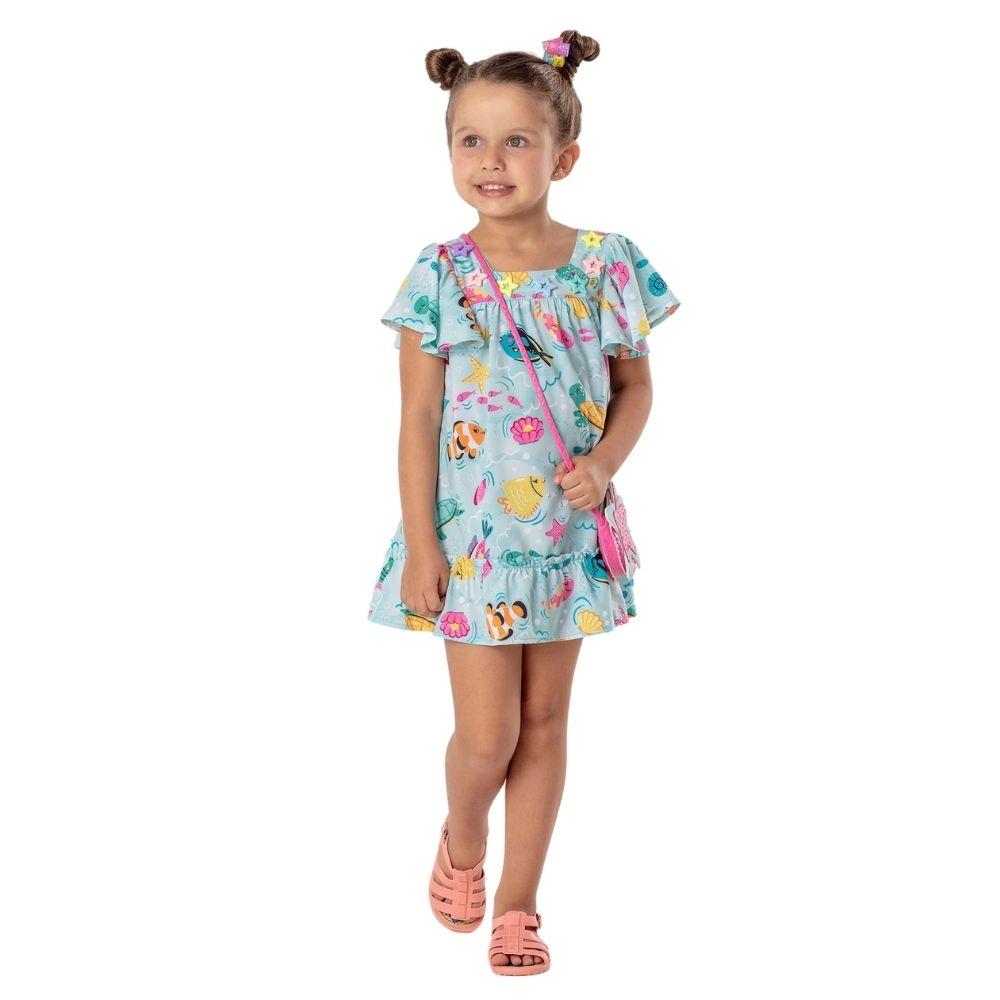 Vestido Aquarium Mon Sucre Infantil