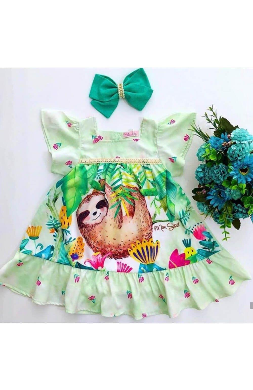 Vestido Bicho Preguiça Mon Sucre Infantil