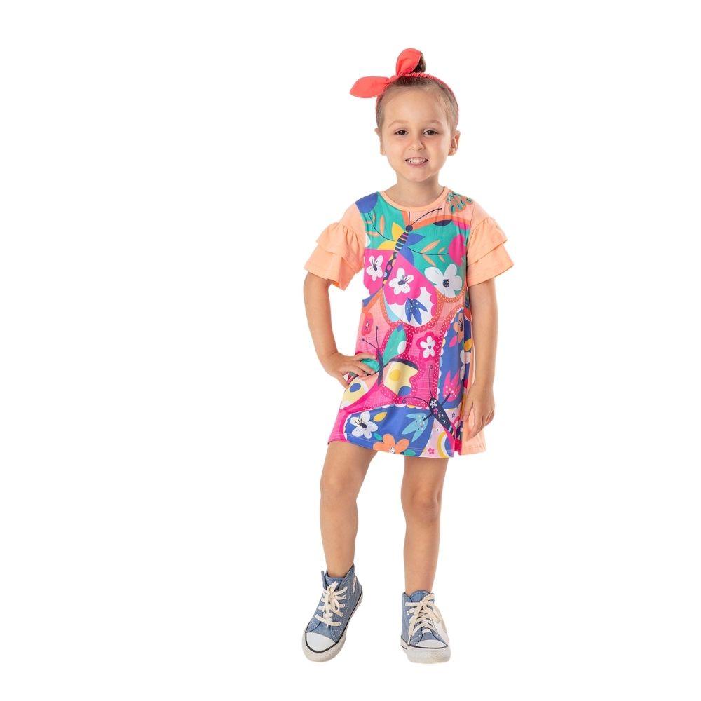 Vestido Borboletas Mon Sucre Infantil