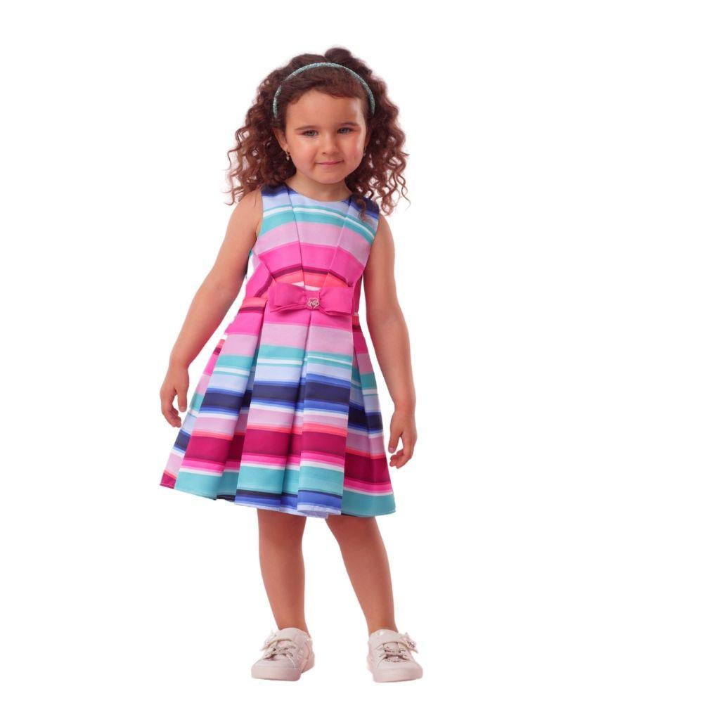 Vestido Botanic com Laço Mon Sucre Infantil