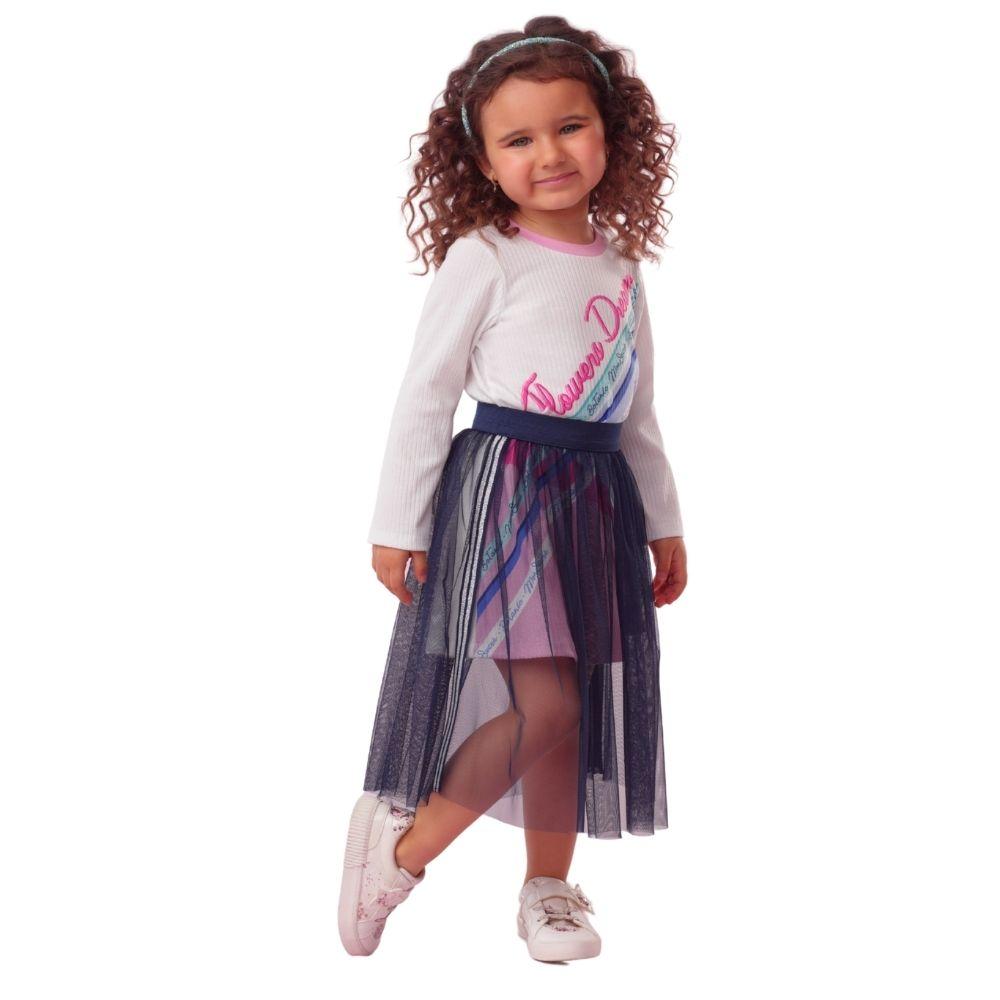 Vestido Botanic com Saia de Tule Mon Sucre Infantil