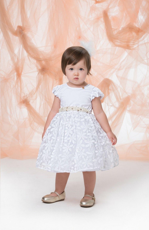 Vestido Branco com Renda e cinto  Gabriela Aquarela