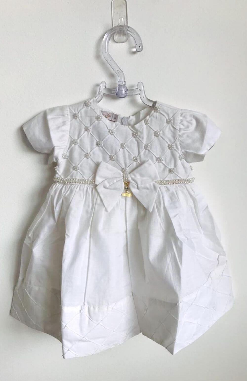 Vestido Branco em Pérolas Roana Acessórios