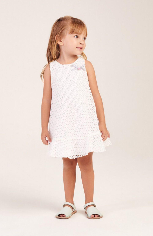 Vestido Branco Festa Mon Sucre Infantil