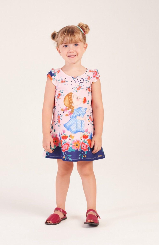 Vestido Camponesa Rosa Mon Sucre Infantil