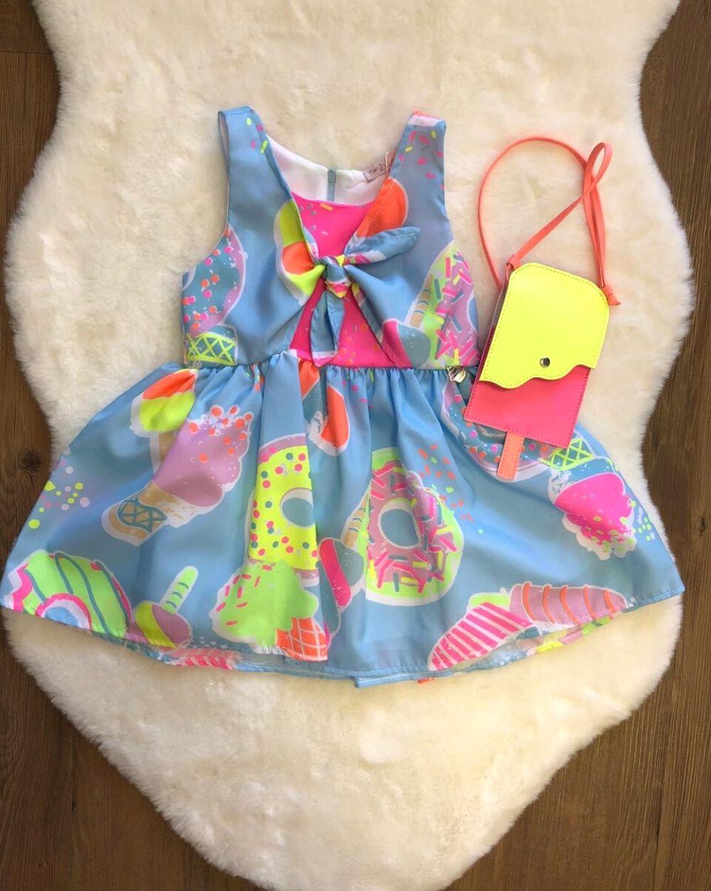 Vestido Candy com Bolsa de Picolé Mon Sucre