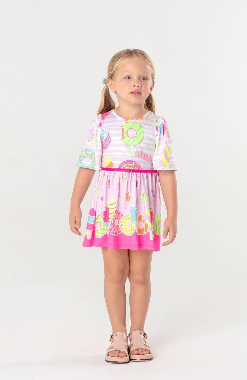 Vestido Candy com Cinto Mon Sucre Infantil