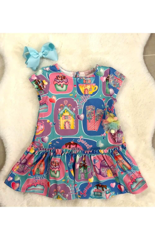 Vestido Casa de Doces Mon Sucre Infantil