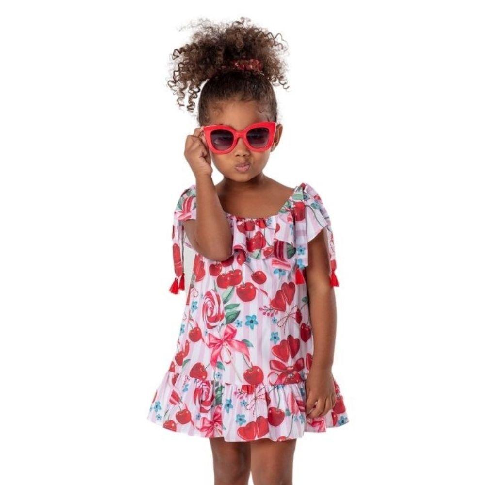 Vestido Cereja Mon Sucre Infantil