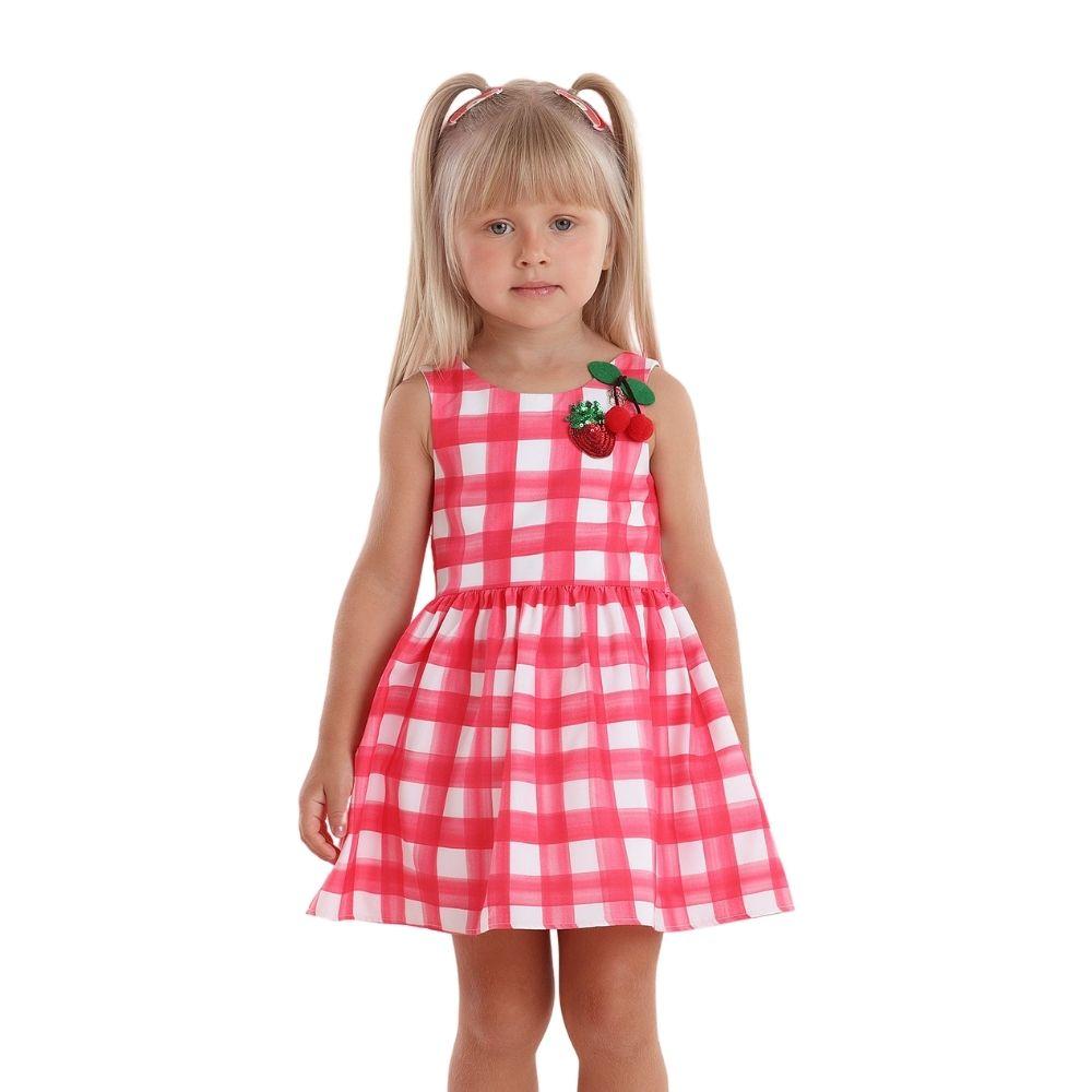 Vestido Cereja Xadrez Festa Mon Sucre Infantil
