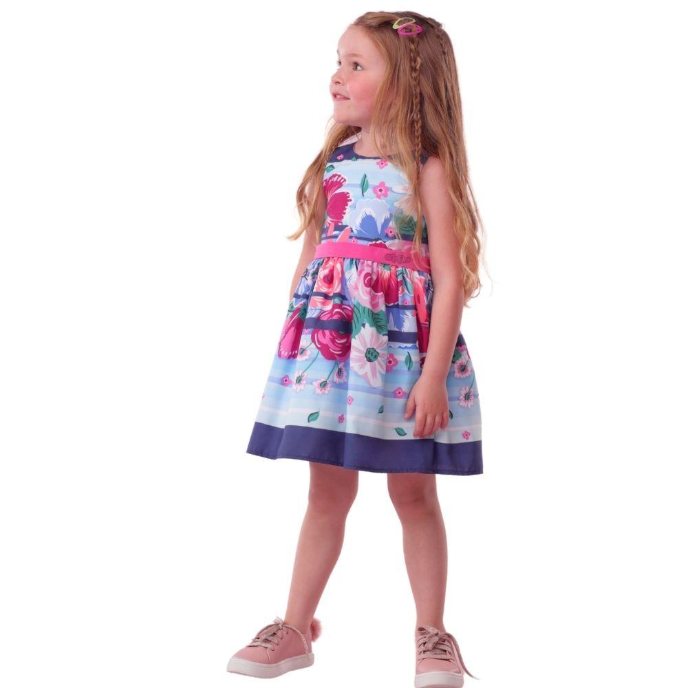 Vestido Flores Botanic Ref 18086 Mon Sucre Infantil