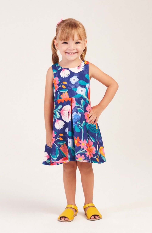 Vestido Flores da Camponesa Mon Sucre Infantil