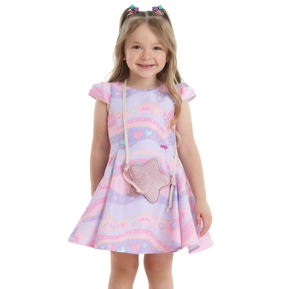 Vestido Galáxia com Bolsa Mon Sucre Infantil