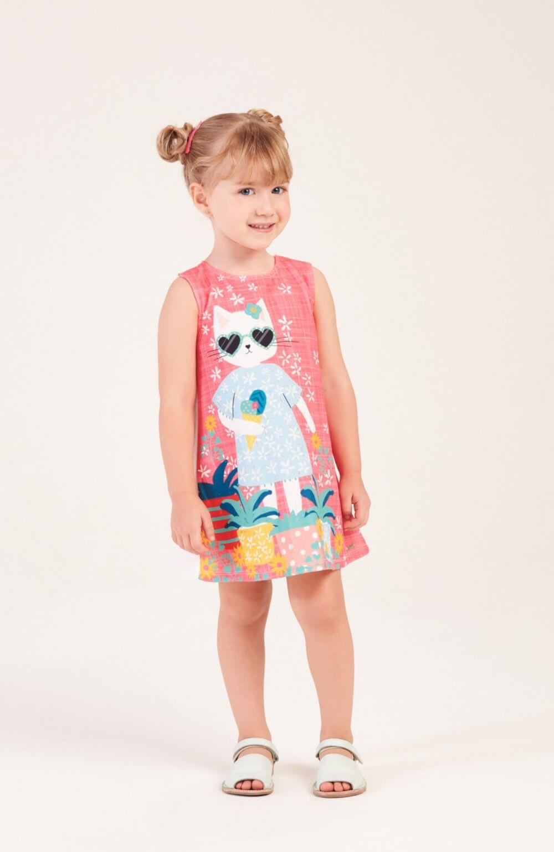 Vestido Gatinha Estilosa Mon Sucre Infantil