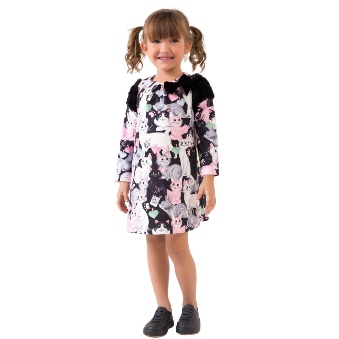 Vestido Gatinho Mon Sucre Infantil