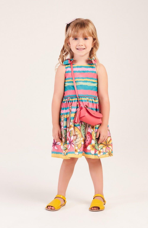 Vestido Hula Hula com Bolsa Mon Sucre Infantil