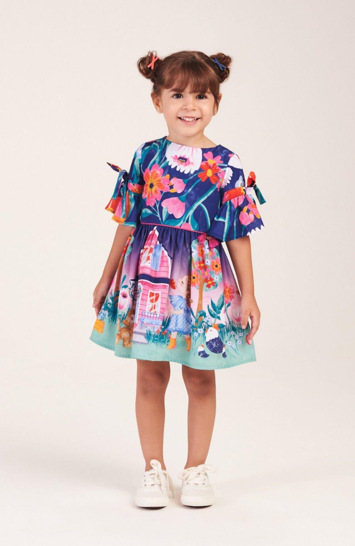 Vestido Jardim da Camponesa Mon Sucre Infantil